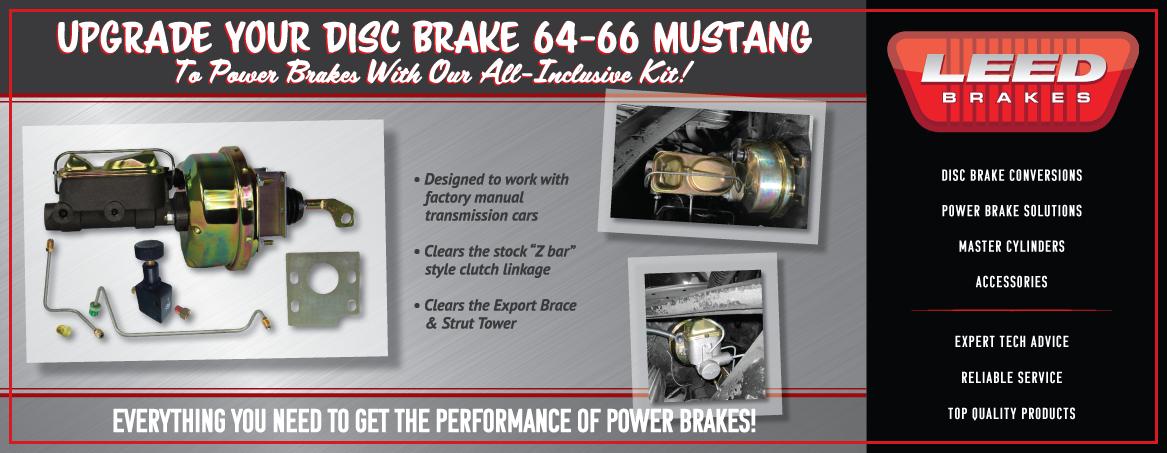 """1964-66 Ford Mustang Firewall Mount Power 8/"""" Dual Brake Booster Kit Disc//Drum"""