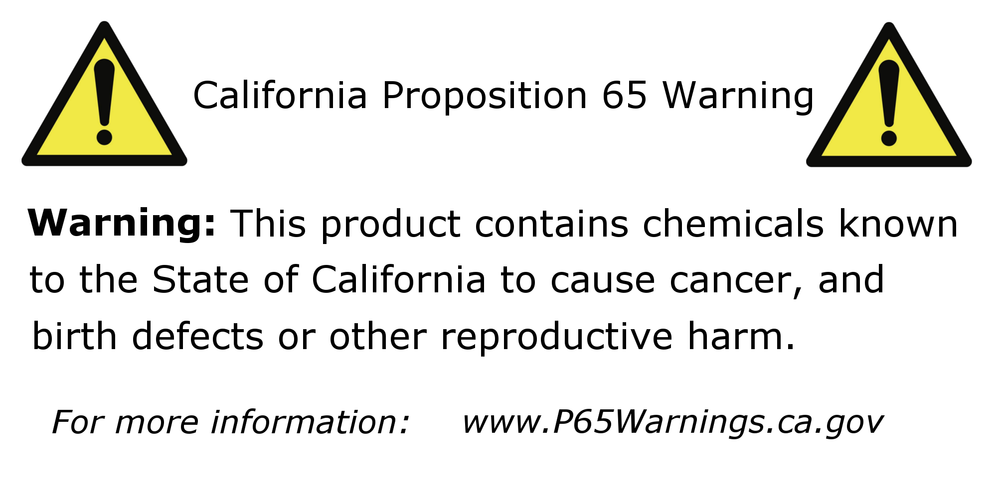 LEED Brakes Prop 65 Label