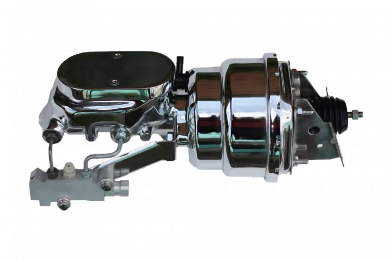 """Chevelle 442 GTO Nova 7/"""" Dual Chrome Power Brake Booster Kit Malibu"""