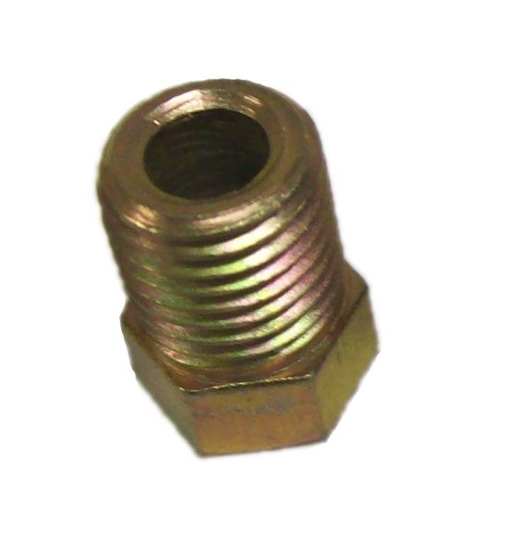 Inverted flare brake fitting for inch line