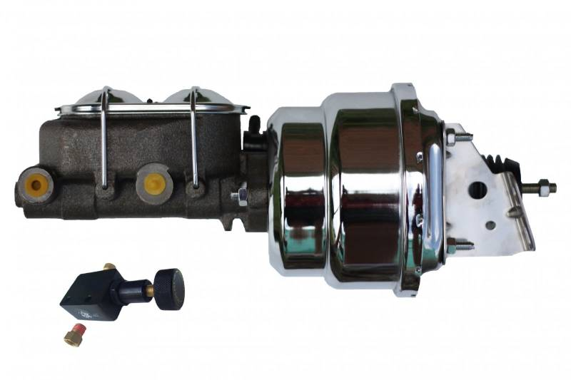 Chrome GM AFX 7 Inch Dual Booster Kit with Adjustable Valve