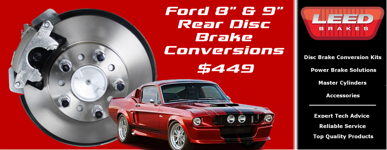 "Ford 9"" Rear Disc Brake Conversions"