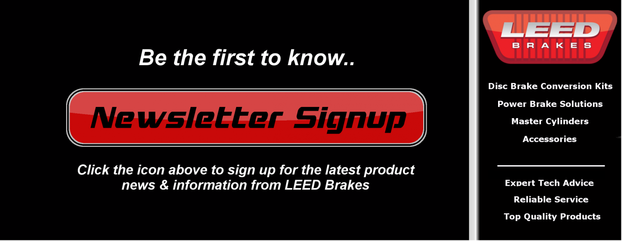 LEED Brakes Newsletter Signup