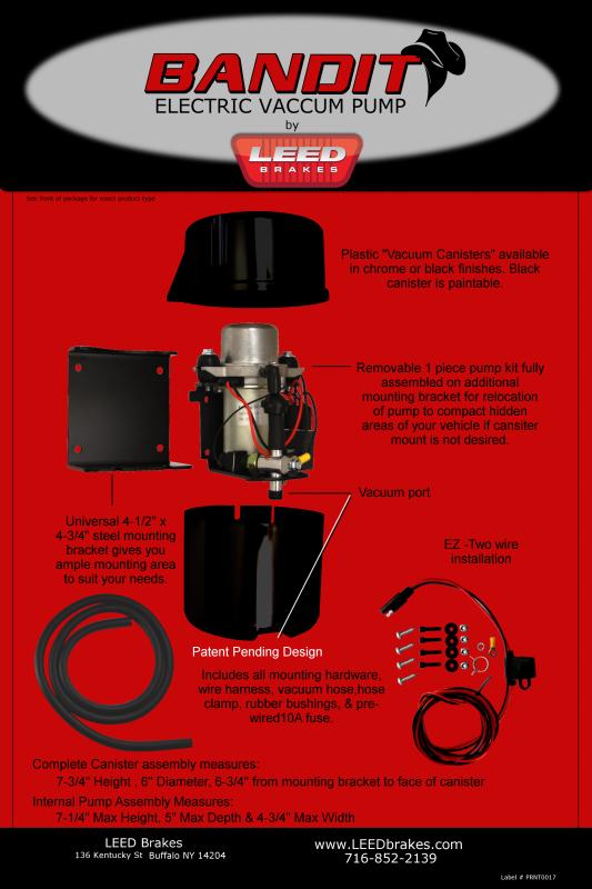 Bandit Series Brake Booster Vacuum Pumps Vacuum Brake