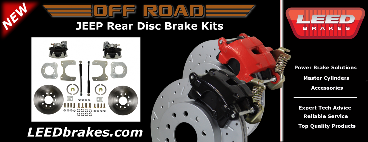 Jeep Rear Disc Brake Conversion Kit