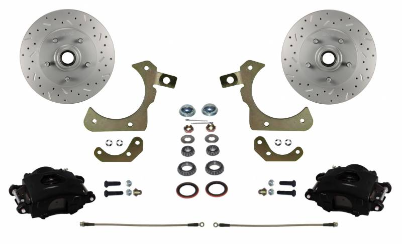 MaxGrip XDS Rotors & Black Calipers for 55-58 GM Full Size