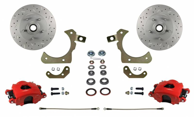 MaxGrip XDS Rotors & Red Calipers for 55-58 GM Full Size