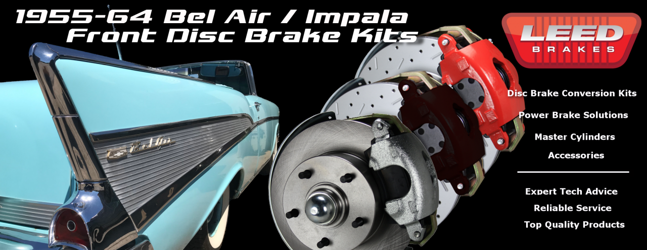 55-64 Bel Air Impala Disc Brake kit
