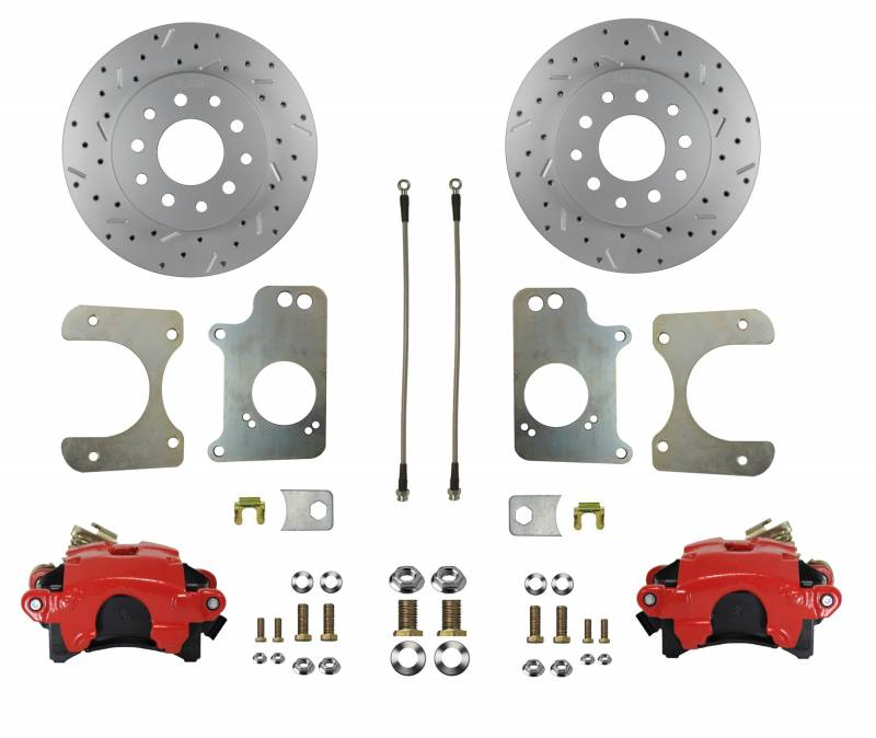 MaxGrip XDS Rotors & Red Calipers - 78-87 G Body & S10