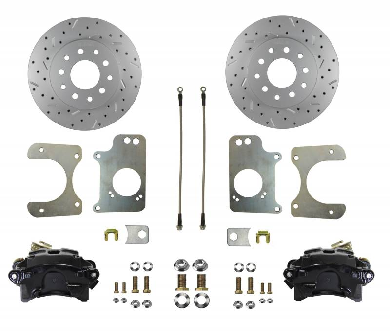 MaxGrip XDS Rotors & Black Calipers - 78-87 G Body & S10