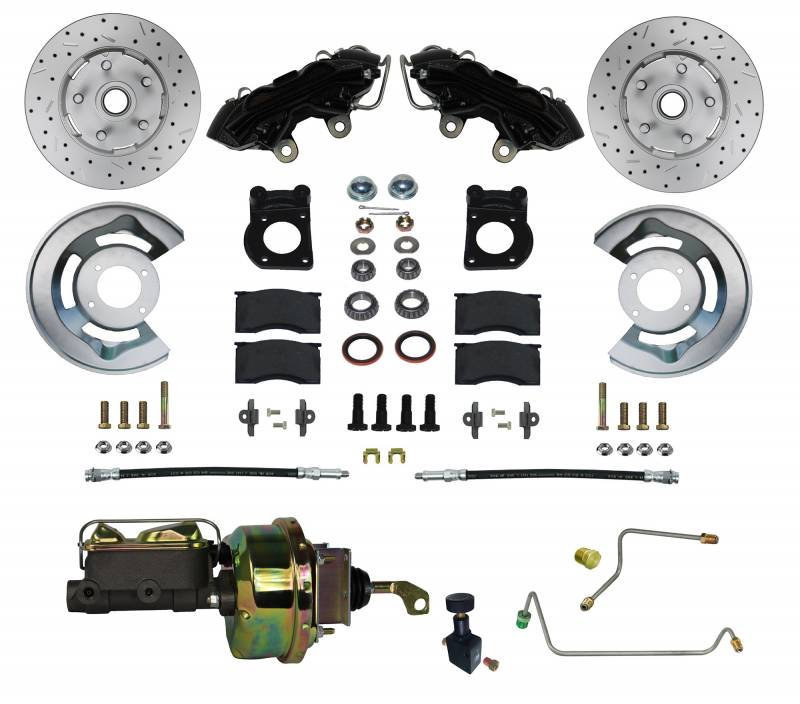 Black Powder Coated Power Brake Kit