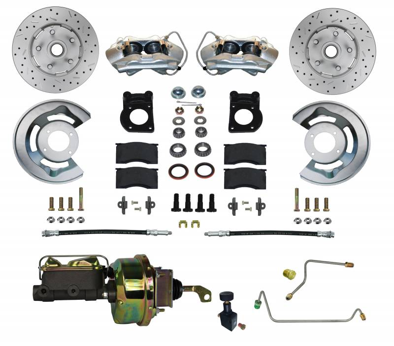Crossdrilled & Slotted Power Brake Kit