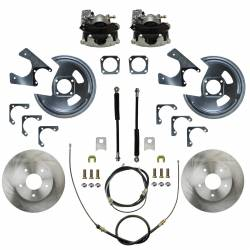 LEED Brakes - Rear Disc Brake Conversion Kit - GM 10 & 12 Bolt Axles 5 x4.75 with Staggered Shocks