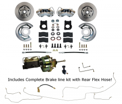 LEED Brakes - Power Disc Brake Conversion with Pre-Bent Brake Line Kit