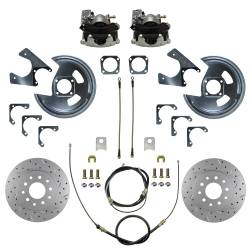 LEED Brakes - Rear Disc Brake Conversion Kit - MaxGrip XDS - GM 10 & 12 Bolt Axles 5 x4.75 with Staggered Shocks