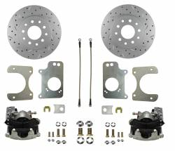 LEED Brakes - Rear Disc Brake Conversion Kit - GM 10 Bolt Axles with 3 Bolt Flange - MaxGrip XDS