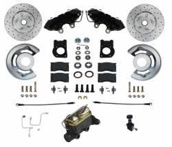 LEED Brakes - Manual Front Kit with Drilled Rotors and Black Powder Coated Calipers