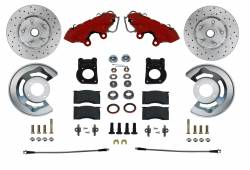 LEED Brakes - Spindle Kit with Drilled Rotors and Red Powder Coated Calipers
