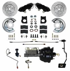 LEED Brakes - Power Front Kit with Drilled Rotors and Black Powder Coated Calipers
