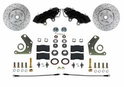 LEED Brakes - Spindle Kit with Drilled Rotors and Black Powder Coated Calipers