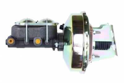 LEED Brakes - 9 inch power booster , 1-1/8 inch Bore master GM Full Size, (Zinc)