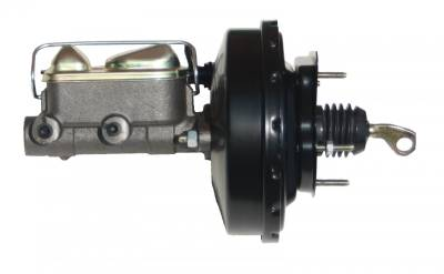 LEED Brakes - 9 inch power brake booster with bracket, 1 inch bore master cylinder (Black)