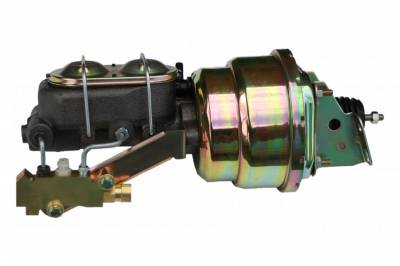 LEED Brakes - 7 inch Dual power booster , 1-1/8 inch Bore master, side mount valve, disc/disc (Zinc)