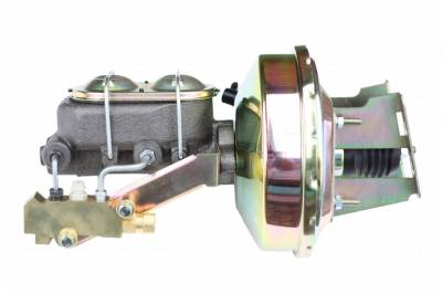 LEED Brakes - 9 inch power booster , 1-1/8 inch Bore master, side mount valve, disc/disc (Zinc)