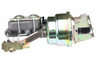 LEED Brakes - 7 inch Dual power booster , 1-1/8 inch Bore master, side mount valve, disc/drum (Zinc)