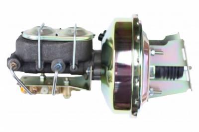 LEED Brakes - 9 inch power booster , 1-1/8 inch Bore master, bottom mount valve, disc/drum (Zinc)