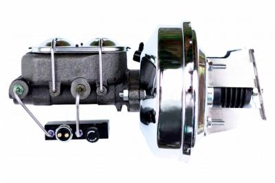 LEED Brakes - 9 inch power booster, 1-1/8 inch bore master with adjustable proportioning block (chrome)