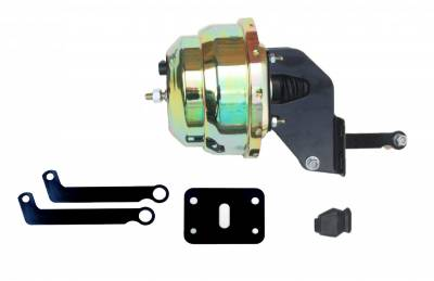 LEED Brakes - 8 inch Dual power booster with bracket kit (Zinc)