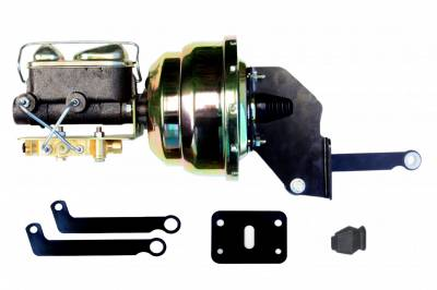 LEED Brakes - 8 inch Dual Power booster , 1 inch Bore master, bottom mount valve, disc/drum (Zinc)