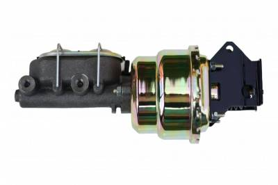 LEED Brakes - 7 inch Dual power booster , 1-1/8 inch Bore master (Zinc)