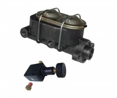 LEED Brakes - Master Cylinder Kit - 1-1/8 inch Bore left port with adjustable valve