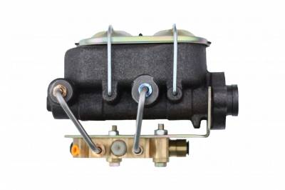 LEED Brakes - Master Cylinder Kit - 1-1/8 inch Bore left port with bottom mount proportioning valve - Disc/Drum