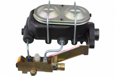 LEED Brakes - Master Cylinder Kit - 1-1/8 inch Bore left port with side mount proportioning valve - Disc/Disc
