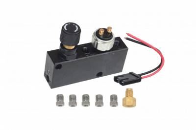 LEED Brakes - Adjustable proportioning valve and distribution block (Black)