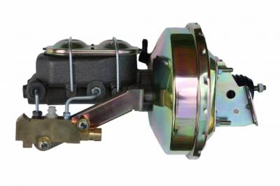 LEED Brakes - 9 inch power booster , 1-1/8 inch Bore master, side mount valve, 4 wheel disc (Zinc)