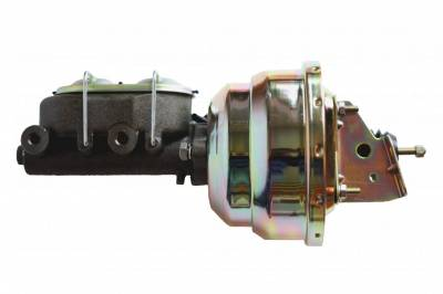 LEED Brakes - 8 inch Dual power booster , 1-1/8 inch Bore master,  (Zinc)