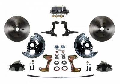 LEED Brakes - Manual Front Disc Brake Conversion Kit with Cast Iron M/C Disc/Drum Bottom Mount