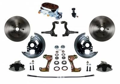 GM AFX Front Manual Disc Brake Conversion - Chrome Master