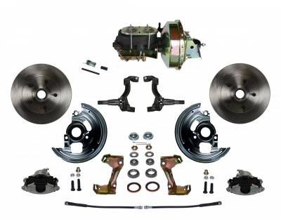 "GM AFX Front Power Disc Brake Conversion - 9"" Booster Disc/Drum"