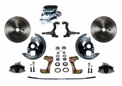 GM AFX Front ManualDisc Brake Conversion - Chrome Master Disc / Drum Assembled