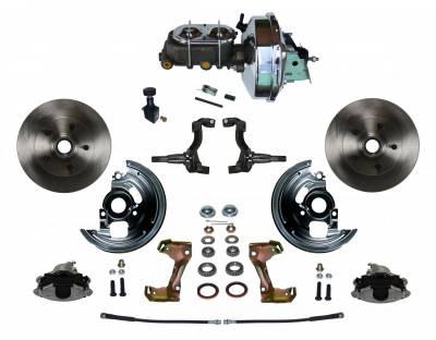 GM AFX Front Power Disc Brake Conversion - Chrome Booster Assembled