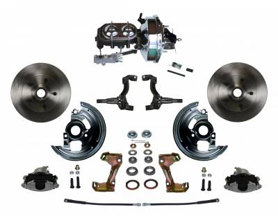 "GM AFX Front Power Disc Brake Conversion -  9"" Chrome Booster 4 Wheel Disc  - Assembled"