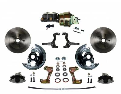 "GM AFX Front Power Disc Brake Conversion -  7"" Dual Booster Assembled"