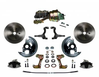 "GM AFX Front Power Disc Brake Conversion -  7"" Dual Booster 4 Wheel Disc"