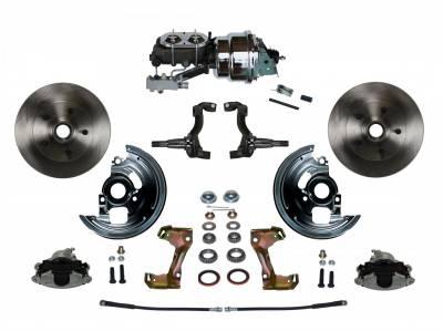 "GM AFX Front Power Disc Brake Conversion -  7"" Dual Booster Chrome 4 Wheel Disc  Assembled"