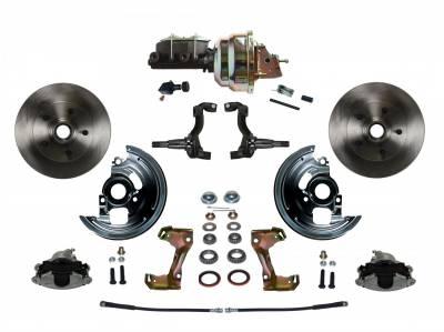 "GM AFX Front Power Disc Brake Conversion -  8"" Dual Booster  Assembled"